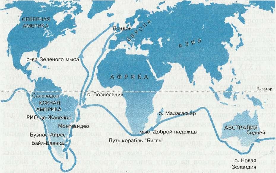 Кругосветное путешествие чарльза дарвина в качестве натуралиста