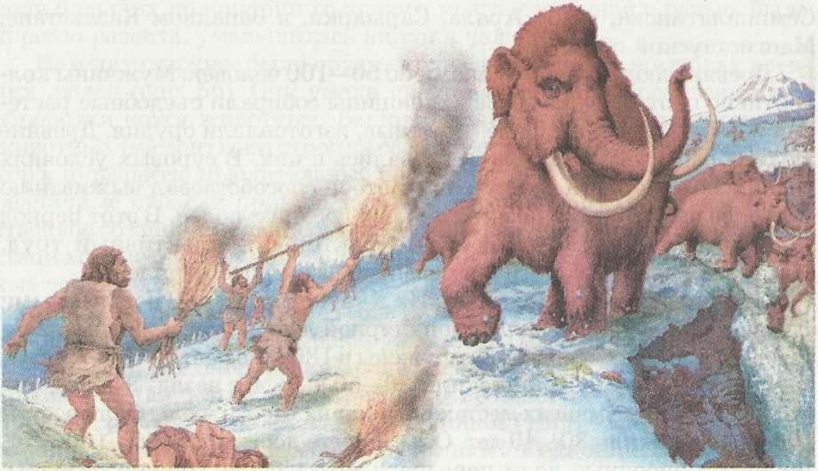 Этапы эволюции человека Древние и первые современные люди  Охота на мамонтов 35 тыс лет назад